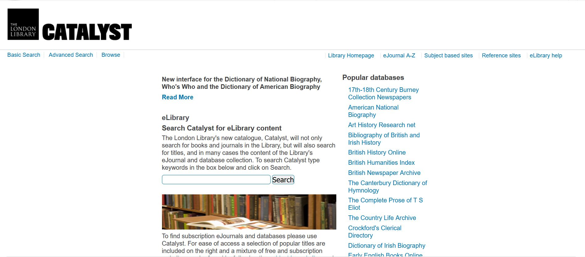 Elibrary.londonlibrary.co.uk